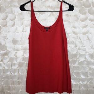 Eileen Fisher Red Wool tank top basic minimalist L